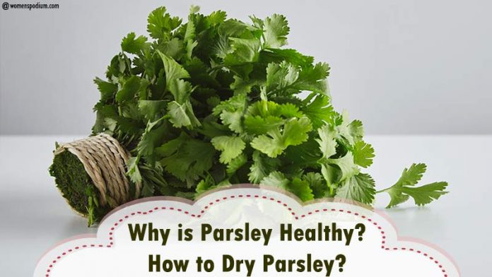 How to Dry Parsley