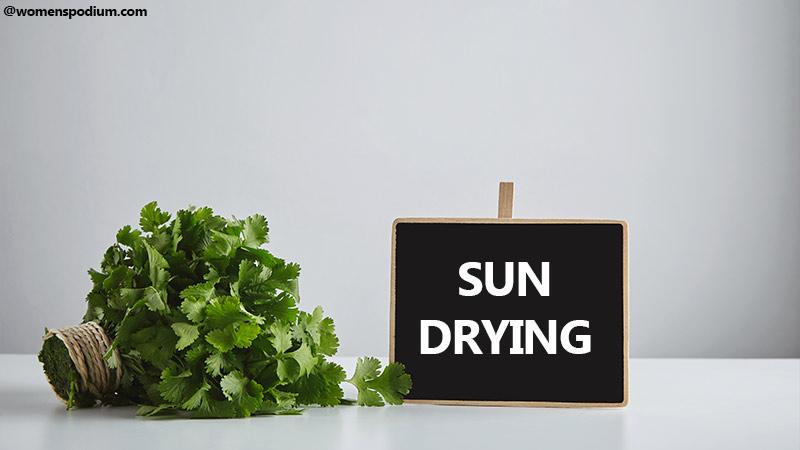 Sun Drying Technique