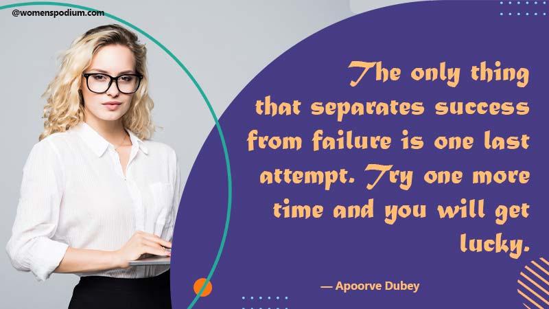 Last attempt - Failure quotes