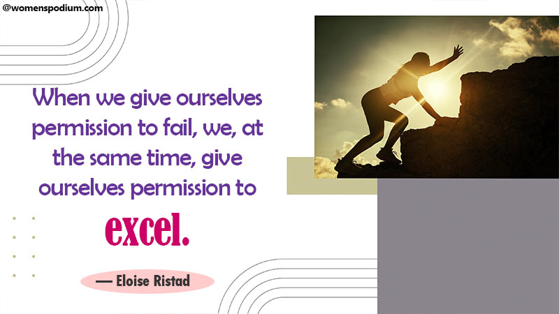 Give permission to fail