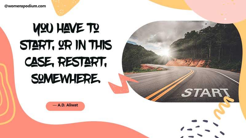 Restart somewhere