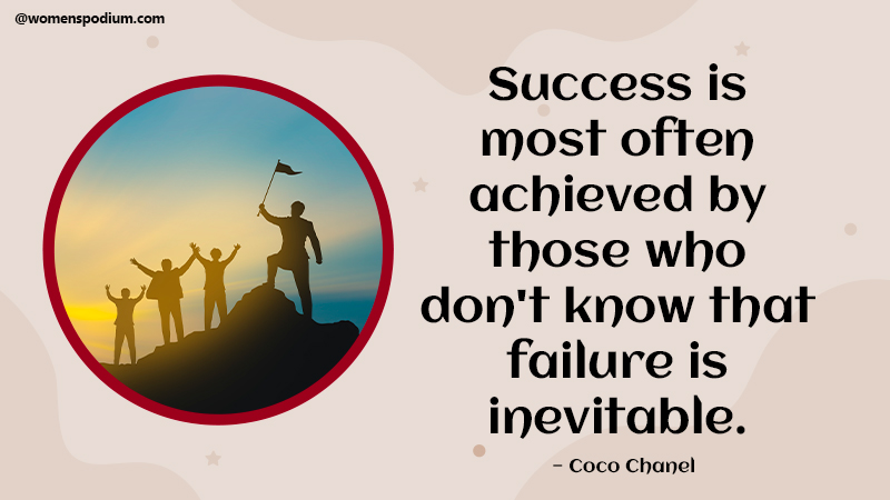 Failure is inevitable - quotes on failure
