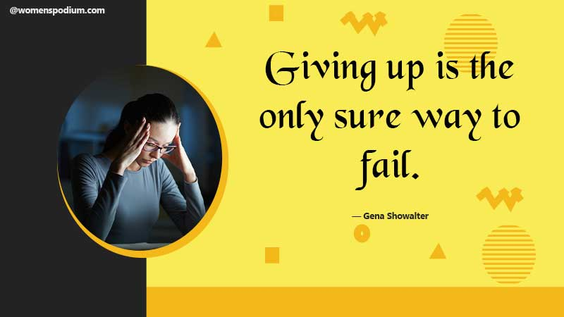 giving up - failure quotes