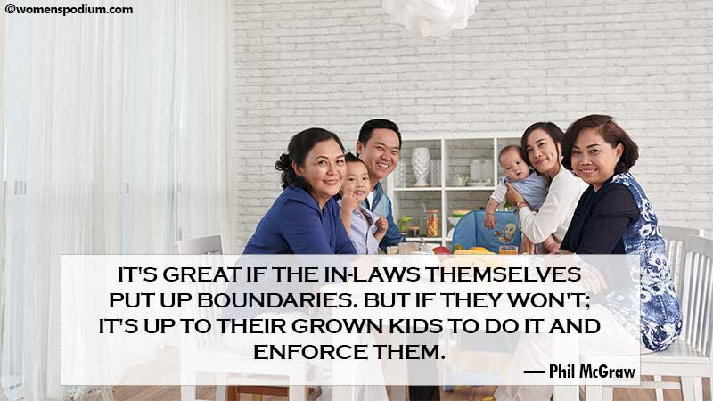 In - laws themselves put boundaries