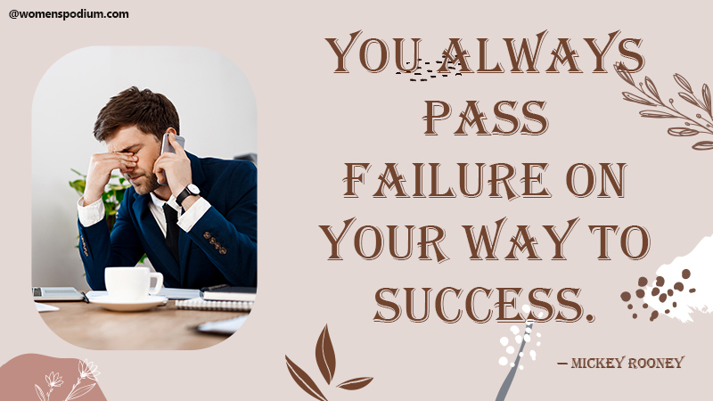 Pass failure - quotes about failure