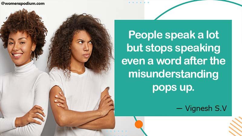 People speak alot