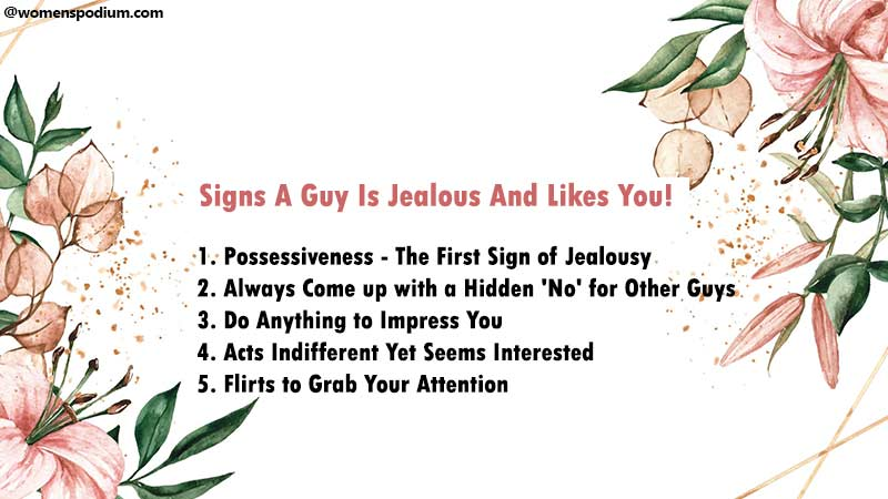 Signs A Guy Is Jealous And Likes You!