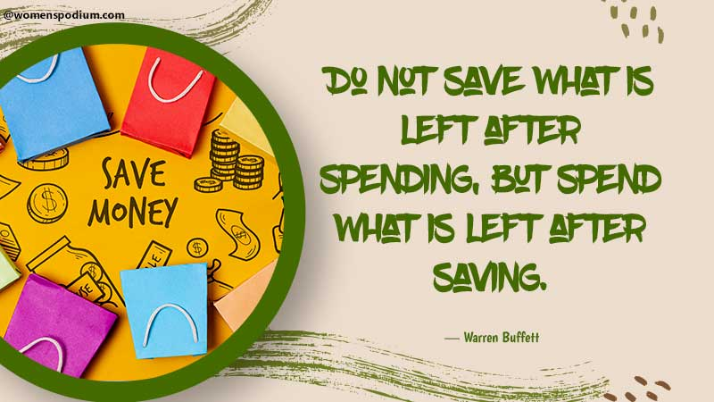 do not save what is left - quotes on saving money
