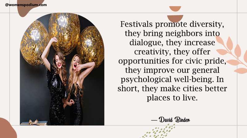 Festivals promote diversity
