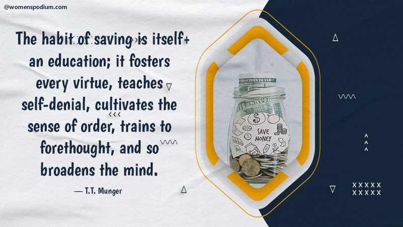 habit of saving - quotes on saving money