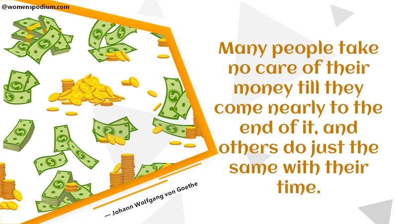 People take no care of money - saving quotes